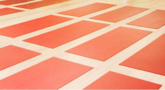 Red Yoga Mat in Singapore at Yoga Mala Studio
