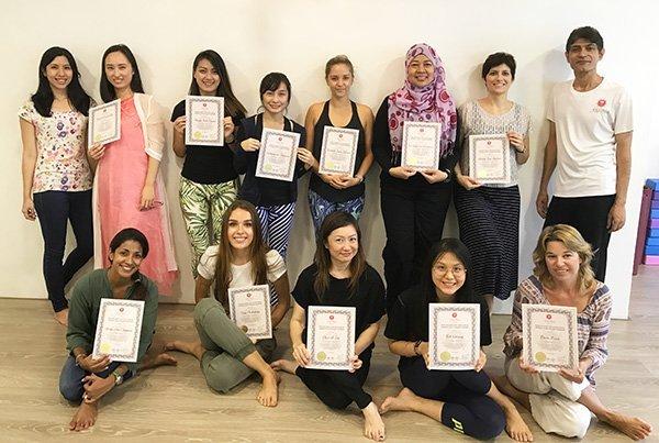 Yoga Teacher Training Singapore Participants